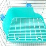 Toruiwa Bac Litière de Lapin Maison de Toilettes pour Lapin Hamster Rat Gerbille Souris Cochon D'Inde Couleur Aléatoire