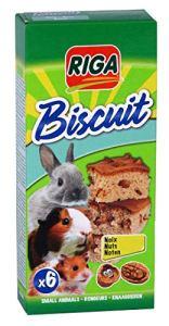 Riga Biscuits aux Noix pour Rongeur par 6 – Lot de 3