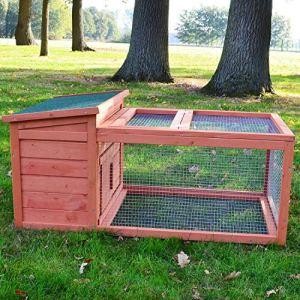 Zooprimus Cage Clapier Enclos Lapin Extérieur en Bois Haute Qualité pour Lapins 110 x 65 x 51 cm.Modèle 060 Freddy