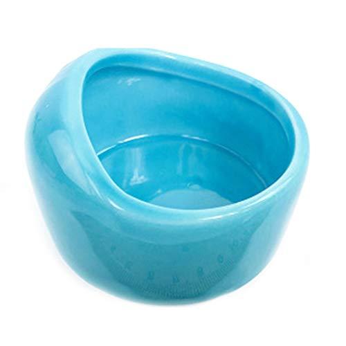 NYDZDM Gamelle de voyage portable en céramique pour animal domestique, hamster, lapin, gamelle de voyage pour nourriture Totoro, petits bols mudium, accessoires pour animaux de compagnie bleu