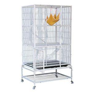 Cages pour animaux de compagnie cage de transport pour parc de parc pour maison avec plusieurs niveaux condos en métal animaux domestiques pour petits animaux Chinchilla cage de rongeur sur roue blanc