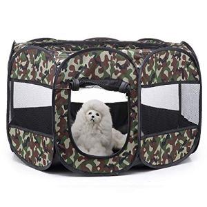 Clôture Animal, Maison Pliant Mesh Portable pour Chiens Chats Petits Animaux Lapins Oxford Playpen,Styled