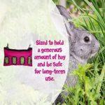 Sac à foin à suspendre pour lapin, cochon d'Inde, chinchilla pour animaux de compagnie – Accessoires pour animaux de compagnie – Outils de mangeoire – Couleur : bleu