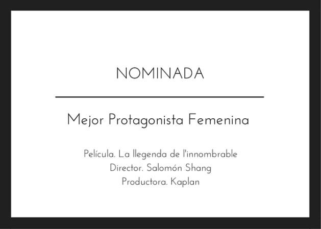 Nominada Premis Gaudi