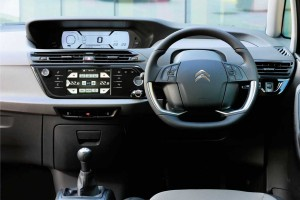 An interior view of the C4 Picasso showing the twin screens which come as standard.