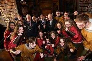 Lord Mayor of Dublin Oisín Quinn joined Minister for Arts, Heritage and Gaeltacht, Jimmy Deenihan at Trinity College Dublin, to announce a programme of festivals and events, which will run throughout the millennium year 2014 at locations associated with the life and death of Brian Boru.