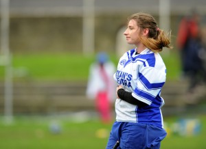 A dissapointed Lauren Tuohy of St Flannan's following the loss to St Mary's of Charleville in the Munster Senior A Colleges Camogie championship final at Newmarket. Photograph by John Kelly.