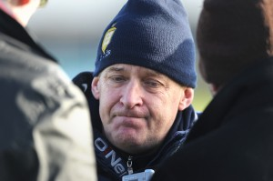 Clare manager Colm Collins talking to reporters following the draw against Leitrim in their Round 2 Division 4 national Football League game at Miltown Malbay. Photograph by John Kelly.