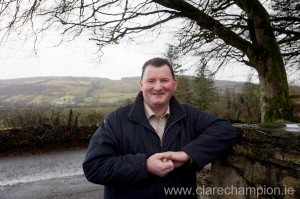 Councillor Pat Hayes concerned over the condition of the Poulagour road in Scariff..
