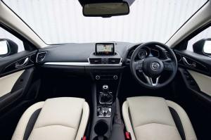 The impressive interior of the new Mazda3.