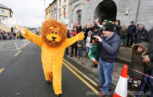 The Lion King in Gort for the big parade. Photograph by Arthur Ellils