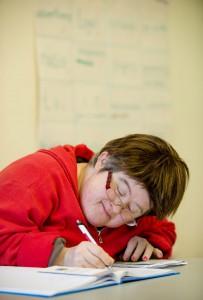 Jill Hayes from Corofin hard at work.