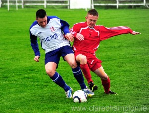 Action from the cup final