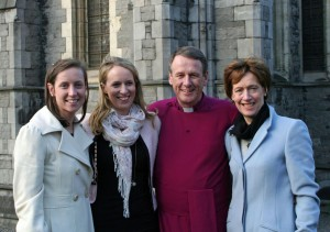 Alison and Rachel with their parents, Bishop Kenneth Kearon and Jennifer Kearon. Photograph by Paul Harron, Church of Ireland Press Office.