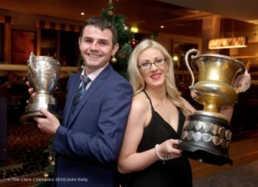 John and Siobhan O Gorman at the Cratloe GAA Victory dinner in The Radisson hotel. Photograph by John Kelly.
