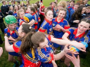 St Annes Community College Killaloe celebrate victory over Preentation De La Salle (Bagenalstown) at The Ragg. Photograph by Arthur Ellis.