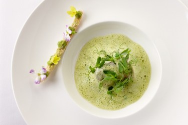 Sensational Pea and Ham Veloute at The Grove