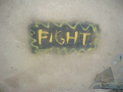 Fight! Grafiti, sniper's nest, Mostar