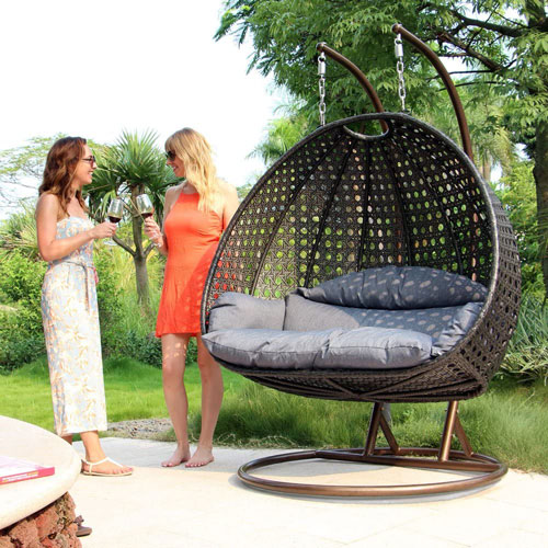 Island Gale Luxury 2 Person Outdoor Egg Chair