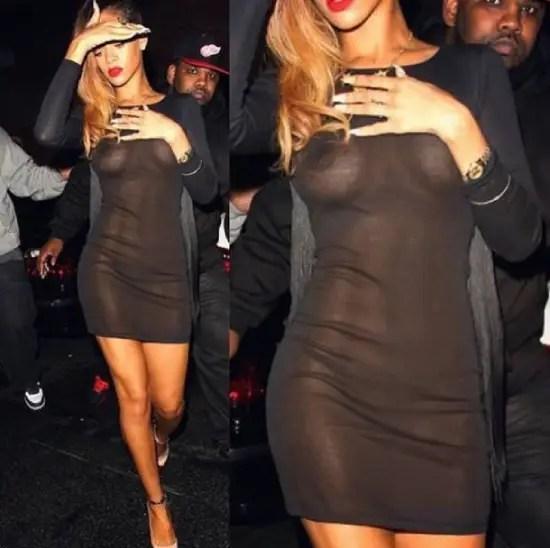 Rihanna Braless Celebrity