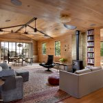 Laver Kirman Antique Rugs In A Modern Living Room