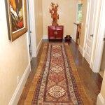 Antique Camelhair Rug In Runner Size In Hallway