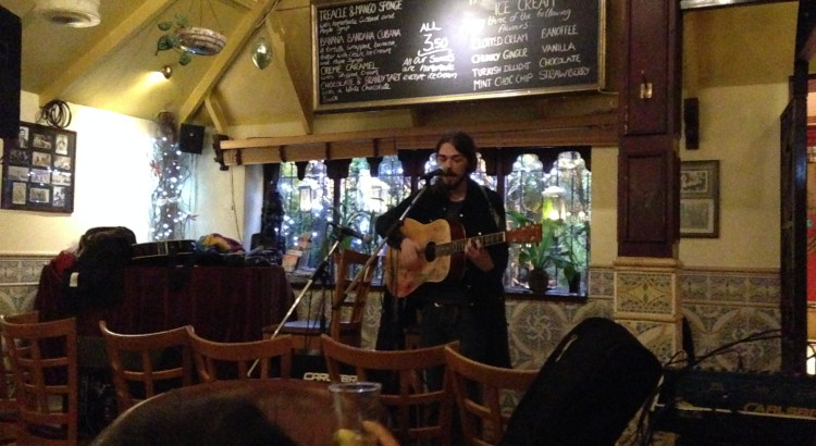 Open mic at Dos Hermanos