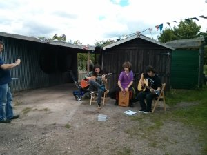 Dead Question at the Queens Road Allotments, ArtBeat 2015