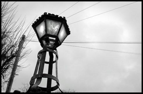 Lamp outside Clarendon Park Congregational Church, Leicester