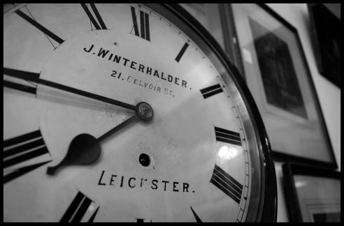 Clock in Clarendon Vintage, Clarendon Park, Leicester