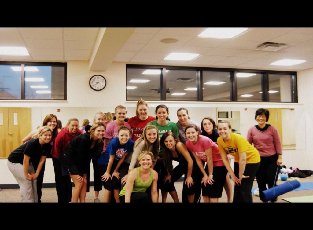 A peek into my Pilates class!