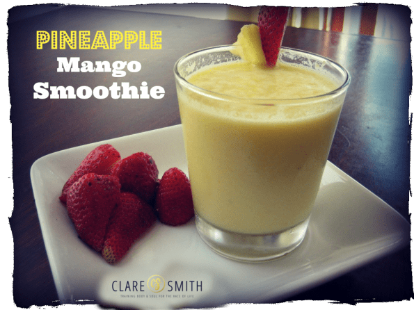 Pineapple Mango Smoothie: www.claresmith.me