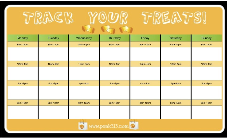 Track Your Treats {Free Printable}!