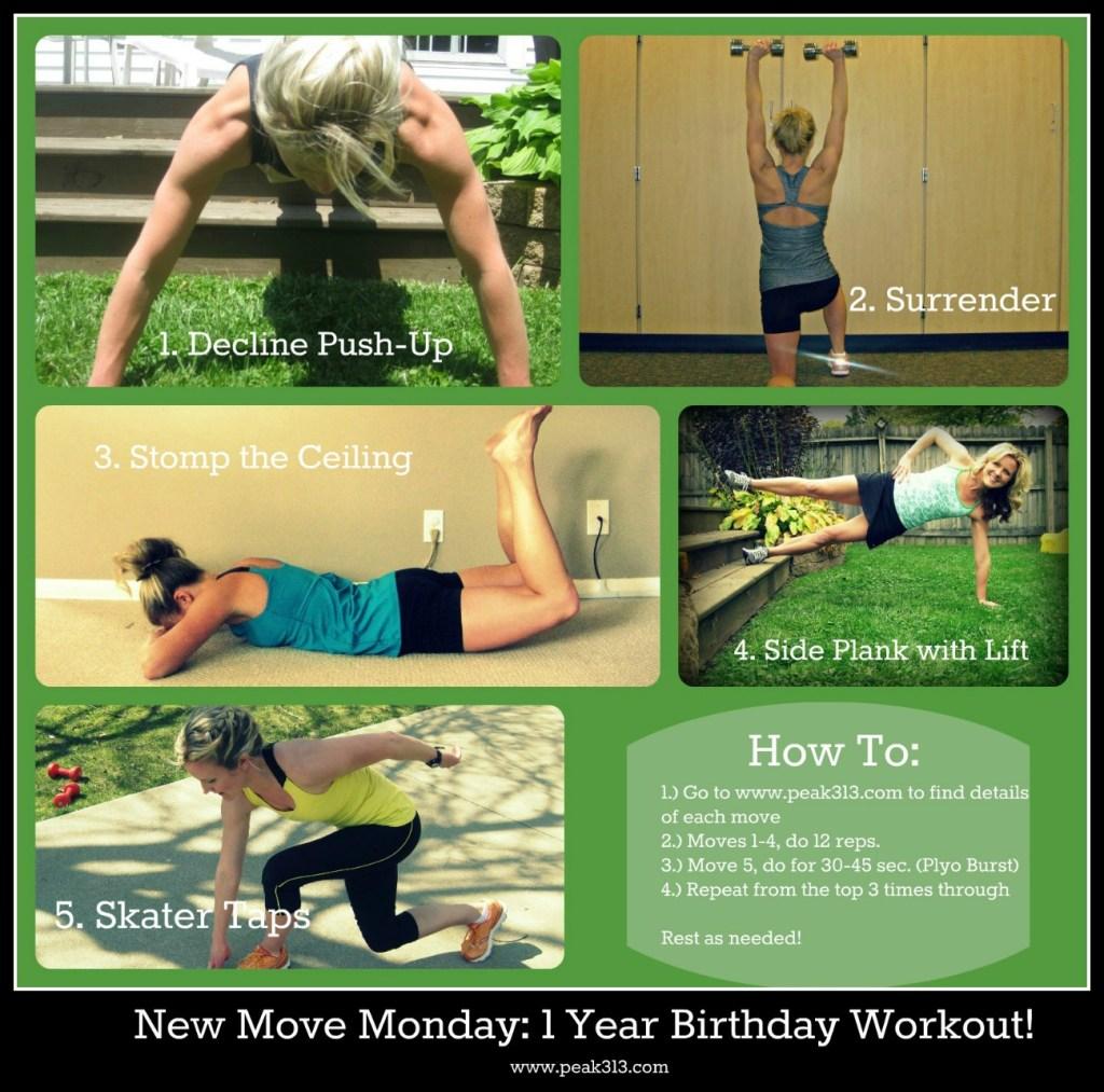 New Move Monday: 1 Year Birthday Workout!