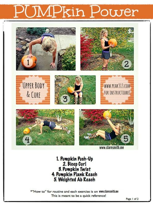 Pumpkin Power Page 1 of 2: Full routine on www.claresmith.me