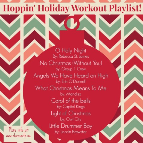 Hoppin' Holiday Workout Playlist: www.claresmith.me