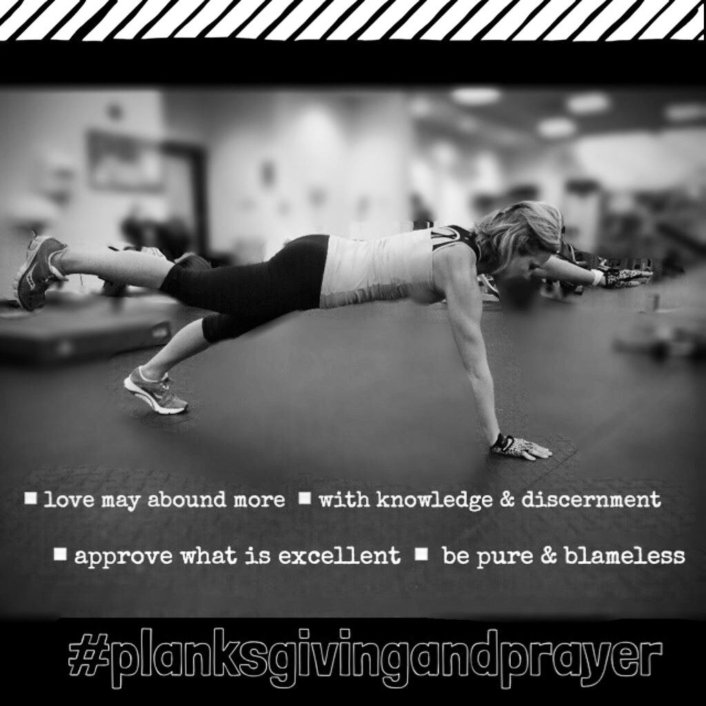Planksgiving and Prayer Monthly Challenge : Week 2
