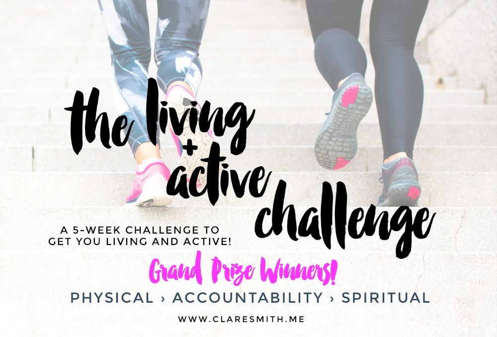"7th ""Living + Active"" Challenge: GRAND PRIZE Winners & Testimonies"