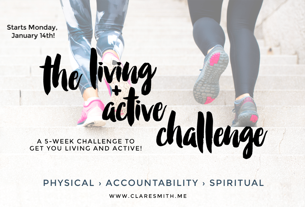 """Introducing the New Year """"Living & Active"""" Challenge & a  pre-challenge giveaway!"""