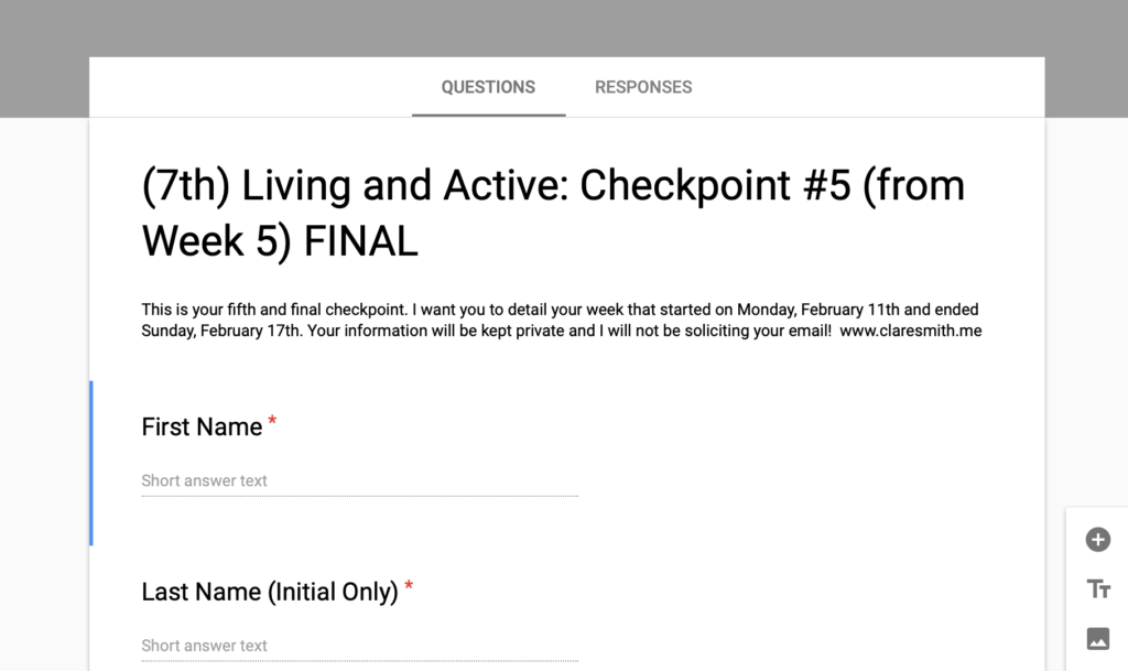 "The 7th ""Living + Active"" Challenge: FINAL Check-In!"
