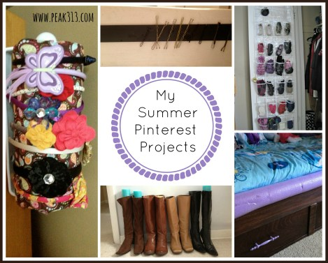 My Summer Pinterest Projects : peak313.com