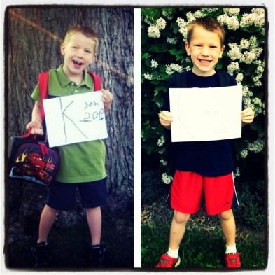 First and Last Day of Kindergarten | peak313.com