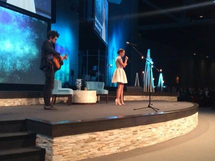 Natasha Bure singing