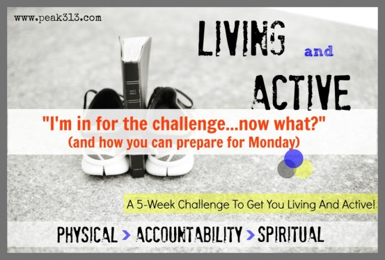 """Living and Active"" 5-Week Challenge-- Now What? (Answers to your common questions) : peak313.com"