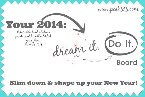 "Your 2014: ""Dream it. Do It"" Board : Slim Down and Shape Up Your New Year! : peak313.com"