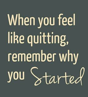 Fitspiration: When you feel like quitting, remember why you Started | peak313.com