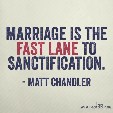 Marriage is the Fast Lane to Sanctification - Matt Chandler : peak313.com