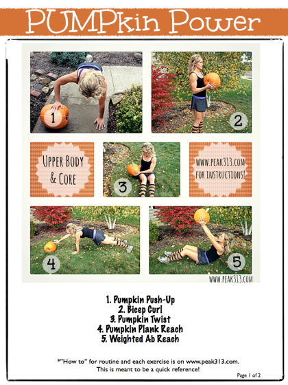 PUMPkin Power Workout (page 1 of 2) : peak313.com