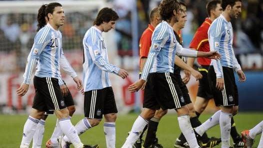 ADIOS. La Selección se despidió con una goleada histórica. (AP)
