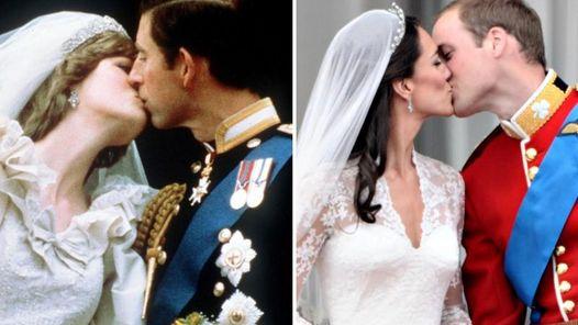 30 AÑOS. Entre el beso de Lady Di y Carlos y William y Kate. (AFP)